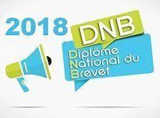 DNB 2018 – Résultats